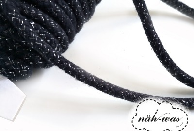 3m Kordel dunkelblau glitzer