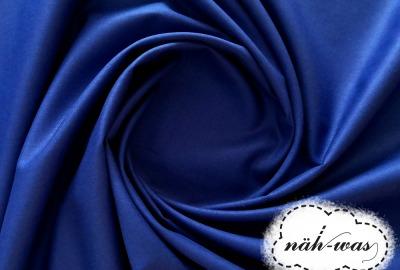 Uni Baumwollstoff kobalt blau 015