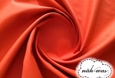 Uni Baumwollstoff orange 028