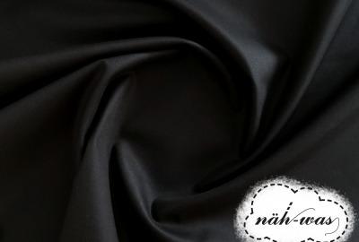 Uni Baumwollstoff schwarz 001