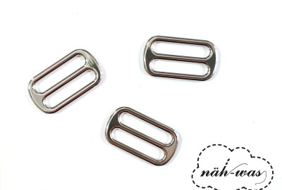 Schieber 25mm silber Zubehör Taschen