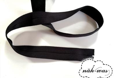 3m Jerseyschrägband schwarz 12mm