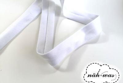 3m Jerseyschrägband weiß 12mm