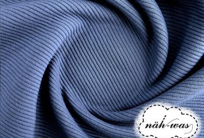 Sweat Ottoman Knitte jeansblau
