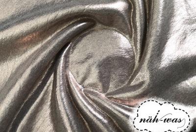 Sweat metallic Glitter Jogging Glitzer silber