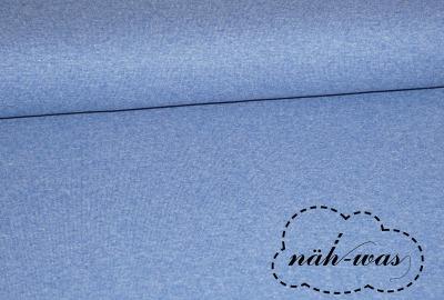 Bündchen Stoff jeansblau meliert