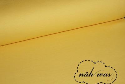 Bündchen Stoff gelb pastell