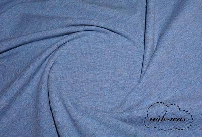 Jersey Stoff jeans meliert