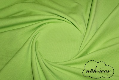 Jersey Stoff apfel-grün Baumwolljersey