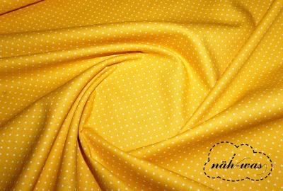 Punkte Baumwollstoff Pünktchen gelb