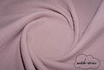 Musselin puder rosa Double