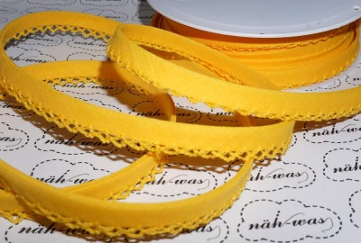3m Schrägband gelb Häkelborte