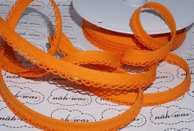 3m Schrägband orange Häkelborte
