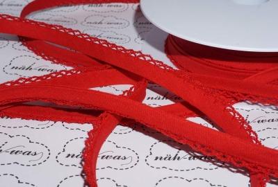 3m Schrägband rot Häkelborte