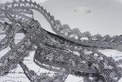 metallic Herzen Spitzenband
