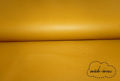Kunstleder senf gelb Lederimitat