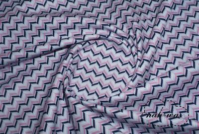 Chevron Baumwollstoff blau grafic Muster