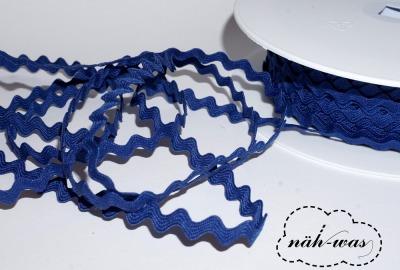 3m Zackenlitze Litze dunkelblau
