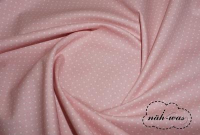 Punkte Baumwollstoff Pünktchen rosa