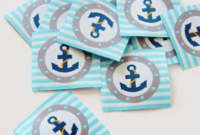 ANKER Etikett aqua blau AHOI