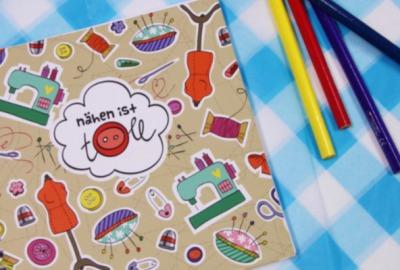 Notizbuch Hamburger Liebe NÄHEN IST