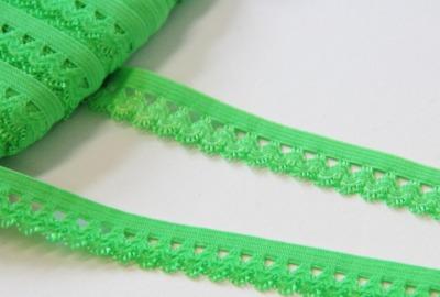 1m Wäschegummi 15mm grün Rüschen