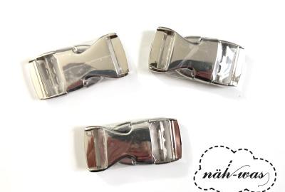 Schnalle Steckschnalle 25mm silber Zubehör