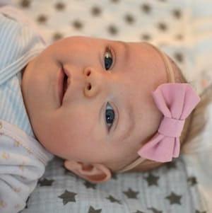 Stirnband Baby Hellgrau 3