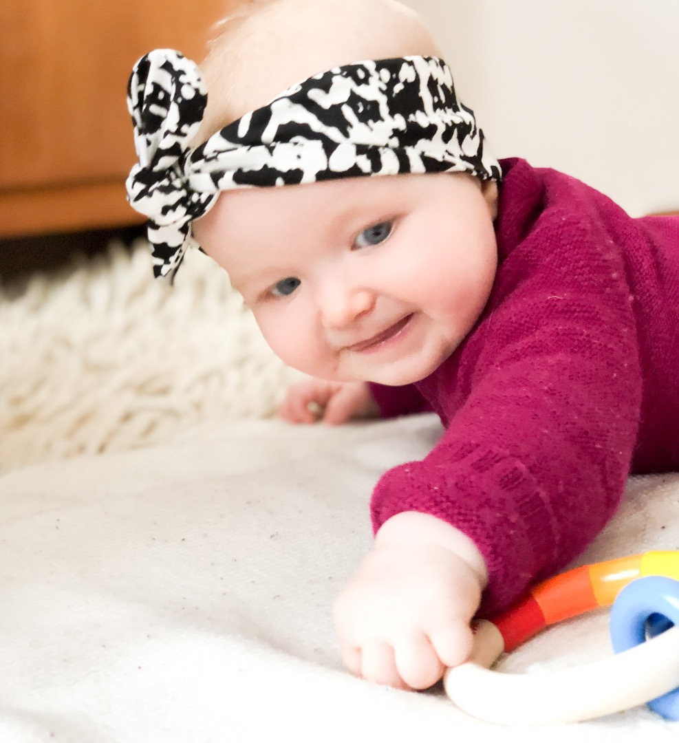Haarband Baby schwarz weiß 5