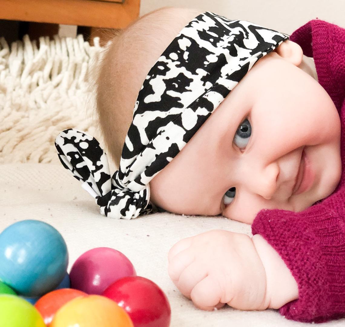 Haarband Baby schwarz weiß 6