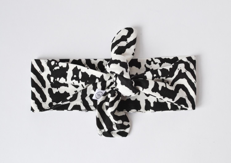Haarband Baby schwarz weiss