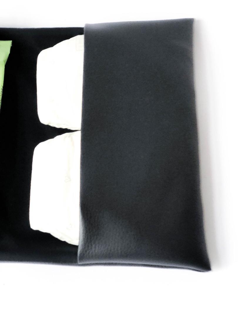 Wickelclutch schwarz