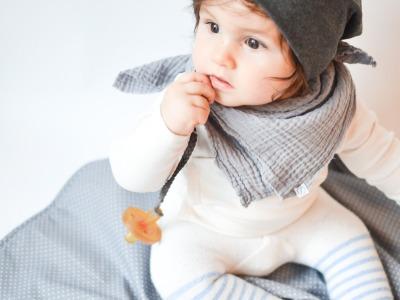 Musselintuch Baby - Hellgrau