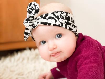 Haarband Baby schwarz weiß
