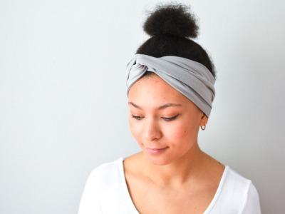 Haarband - Offen // Hellgrau meliert