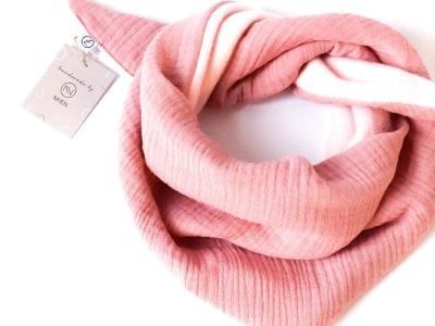 Dreieckstuch Musselin Fleece Rosé // Rosé