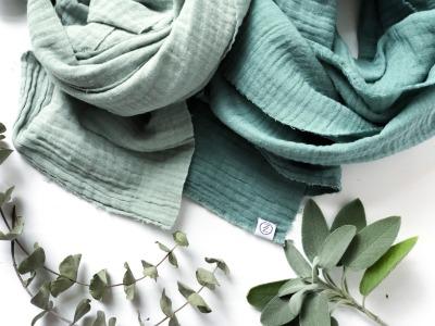 Haarband - Offen // Musselin Eukalyptus