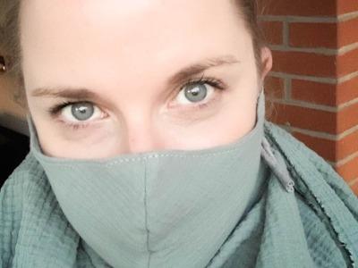 Mundmaske // Mund- und Nasenbedeckung Musselin