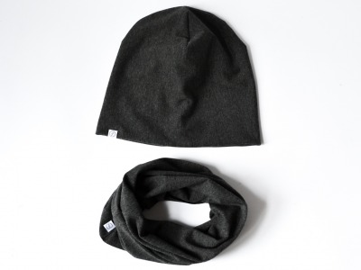 Set Beanie & Loop - Anthrazit