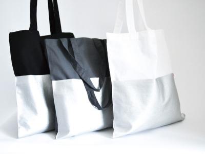 Tasche - Weiß // Silber