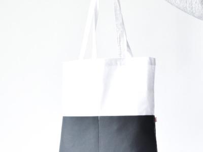 Shopper - Weiß // Grau