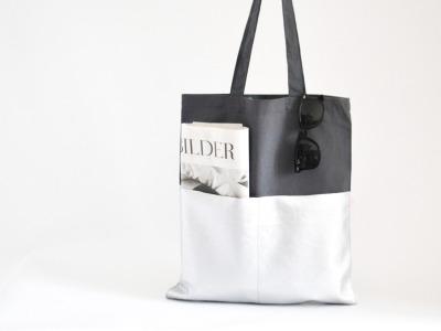 Shopper - Grau // Silber