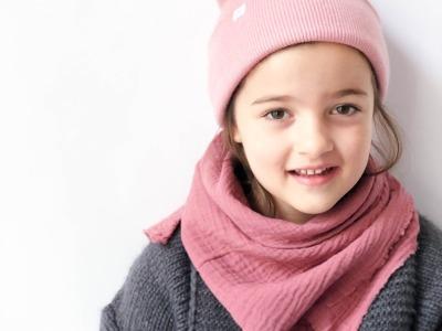 Kinder Beanie Strick - Staubrosa