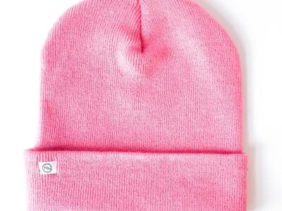 Kinder Beanie Strick - Pink
