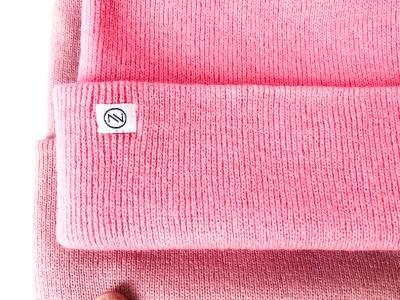 Beanie Strick - Pink