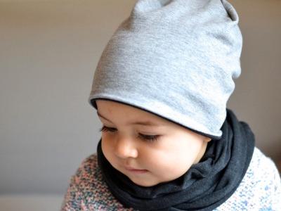 Beanie Junge - Hellgrau meliert // Anthrazit