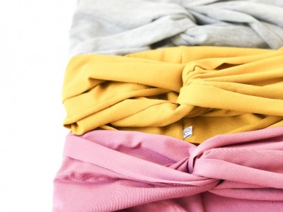 Turbanhaarband extra breit - Altrosa