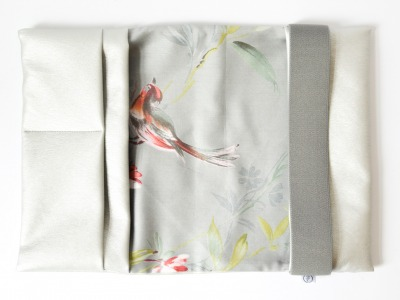 U-Heft Hülle - Silber // Birdy // Grau