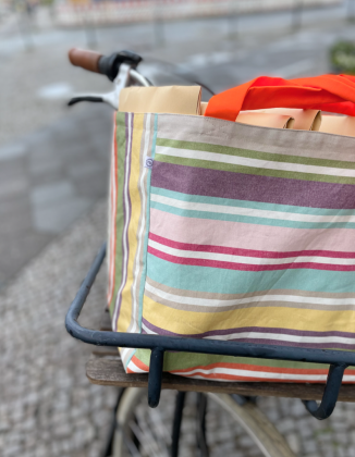 Strandtasche // Shoppen Tasche Gestreift //