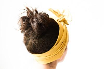 Haarband - Jersey // Senfgelb